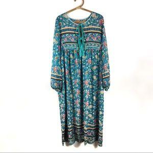 Dresses & Skirts - Boho floral dress  long sleeve | XL